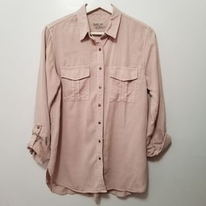 THREAD & SUPPLY Dusty Rose Button Down Shirt S -M6